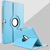 Etui Til Samsung Galaxy Samsung Galaxy Note med stativ 360° rotasjon Heldekkende etui Helfarge PU Leather til Note 10.1
