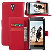 Etui Til HTC Etui HTC Kortholder Lommebok med stativ Flipp Heldekkende etui Helfarge Hard PU Leather til