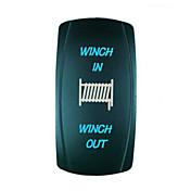 iztoss 7 pins blå laser bakbelyst 20a 12v momentant (på) -off - (på) bryter vinsj inn / ut vippebryteren