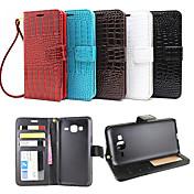 Funda Para Samsung Galaxy Funda Samsung Galaxy Soporte de Coche Cartera con Soporte Flip En Relieve Funda de Cuerpo Entero Color sólido