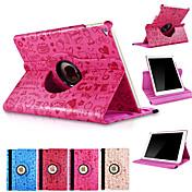 Funda Para iPad Air 2 con Soporte Activado / Apagado Automático Origami Rotación 360º Funda de Cuerpo Entero Azulejo Cuero de PU para