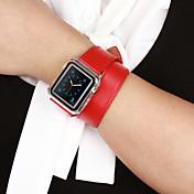 Klokkerem til Apple Watch Series 3 / 2 / 1 Apple Klassisk spenne Ekte lær Håndleddsrem