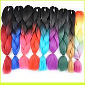ms afrikanske kjemisk fiber farge stor barne jumbo flette hår høy temperatur tråd 1pcs