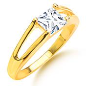 Herre Dame Parringer Zirkonium Gullbelagt Fuskediamant Kvadrat Geometrisk Form Kostyme smykker Bryllup Fest Daglig Avslappet