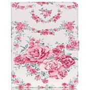 Funda Para iPad 4/3/2 Soporte de Coche con Soporte Funda de Cuerpo Entero Flor Cuero de PU para iPad 4/3/2