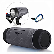 Utendørs Vanntett Bærbar Innbygd Mikrofonen Support Minnekort Support FM Bluetooth 4.0 USB Trådløse Bluetooth-høyttalere Grå kaffe Rød