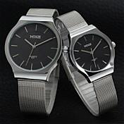 Hombre / Mujer / Pareja Reloj de Pulsera Gran venta Aleación Banda Encanto / Moda Plata / Dorado / Un año / SSUO 377