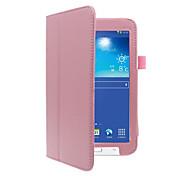 Funda Para Samsung Galaxy Funda de Cuerpo Entero Casos Tablet Color sólido Dura Cuero de PU para Tab 3 Lite