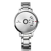 V6 Hombre Reloj creativo único Reloj de Pulsera Cuarzo Gran venta Acero Inoxidable Banda Encanto Plata