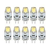 10pcs 1W 100 lm G4 Luces LED de Doble Pin T 1 leds COB Regulable Blanco Cálido Blanco Fresco DC 12V