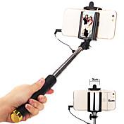 Palo de selfie  Con Cable Extensible Longitud máxima 110cm Universal Android iOS Apple Samsung Galaxy Huawei