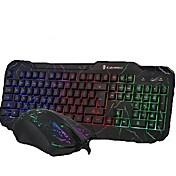 kablet  lys usb gaming mus og tastatur 2 stk et sett