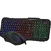 Con Cable Combo de teclado de mouse Retroiluminado Puerto USB teclado para juegos