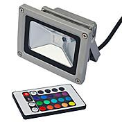 lm LED-lyskastere 1pcs leds Integrert LED Fjernstyrt RGB 85-265V