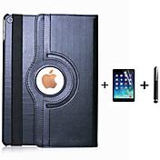 Funda Para iPad Air 2 con Soporte Origami Rotación 360º Funda de Cuerpo Entero Color sólido Cuero de PU para iPad Air 2