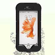 Para Funda iPhone 6 / Funda iPhone 6 Plus Impermeable Funda Cuerpo Entero Funda Un Color Dura PolicarbonatoiPhone 6s Plus/6 Plus / iPhone