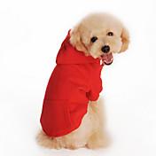 개 후드 레드 / 오렌지 / 블랙 / 그레이 강아지 의류 겨울 / 모든계절/가을 솔리드 캐쥬얼/데일리 / 스포츠