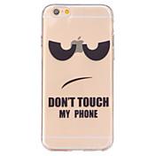 제품 iPhone 6 iPhone 6 Plus 케이스 커버 투명 뒷면 커버 케이스 단어 / 문구 소프트 TPU 용 iPhone 6s Plus iPhone 6 Plus iPhone 6s 아이폰 6