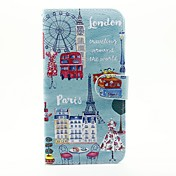 Etui Til Apple Etui iPhone 5 Kortholder Lommebok med stativ Flipp Mønster Heldekkende etui Tegneserie Hard PU Leather til iPhone 7 Plus