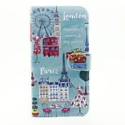 Etui Til Apple Etui iPhone 5 iPhone 6 iPhone 6 Plus Kortholder Lommebok med stativ Heldekkende etui By Utsikt Hard PU Leather til iPhone