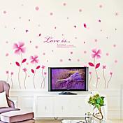 Romantik Mote Blomster Veggklistremerker Fly vægklistermærker Dekorative Mur Klistermærker Materiale Kan fjernes Hjem Dekor