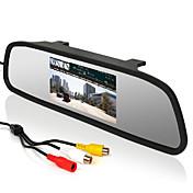 """4.3 """"monitor del coche Espejo retrovisor con pantalla LCD + 170 ° gran angular revertir cámara de aparcamiento"""