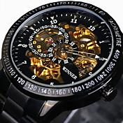 WINNER Hombre Cuerda Automática El reloj mecánico / Reloj de Pulsera Resistente al Agua / Huecograbado / Taquímetro / Cool / Luminoso