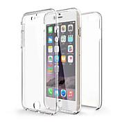 제품 iPhone X iPhone 8 iPhone 6 iPhone 6 Plus 케이스 커버 충격방지 투명 풀 바디 케이스 한 색상 소프트 TPU 용 iPhone X iPhone 8 Plus iPhone 8 iPhone 6s Plus iPhone