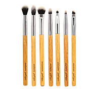 7pcs Pinceles de maquillaje Profesional Sistemas de cepillo / Pincel para Sombra de Ojos / Cepillo de Cejas Pelo Sintético / Pincel de