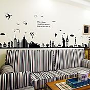 Calcomanías Decorativas de Pared - Calcomanías de Aviones para Pared Paisaje / Animales Sala de estar / Dormitorio / Comedor / Removible