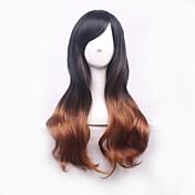 Syntetisk hår Parykker Naturlige bølger Ombre-hår Lokkløs Cosplay-parykk