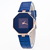 여성용 드레스 시계 패션 시계 디지털 스톱워치 가죽 밴드 빈티지 블랙 화이트 블루 레드 퍼플