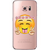 Etui Til Samsung Galaxy Samsung Galaxy S7 Edge Gjennomsiktig Mønster Bakdeksel Tegneserie Myk TPU til S7 edge S7 S6 edge plus S6 edge S6