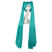 Pelucas de Cosplay Vocaloid Hatsune Miku Animé Pelucas de Cosplay 120 CM Fibra resistente al calor Hombre Mujer