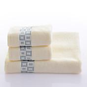신선한 스타일 목욕 타올 세트,염색된 실 뛰어난 품질 100% 면 니트 수건