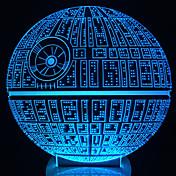 despierta! multicolor estrella de la muerte lámpara de mesa de luz 3d bulbificación estrella de la muerte de
