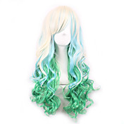 Mujer Pelucas sintéticas Sin Tapa Rizado Pelo Ombre Peluca de cosplay Peluca lolita Las pelucas del traje