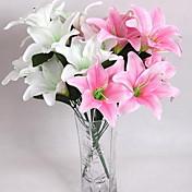 Flores Artificiales 10 Rama Estilo moderno Lilas Flor de Mesa