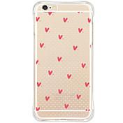 제품 iPhone X iPhone 8 iPhone 6 iPhone 6 Plus 케이스 커버 충격방지 방진 패턴 뒷면 커버 케이스 심장 소프트 TPU 용 Apple iPhone X iPhone 8 Plus iPhone 8 iPhone 6s Plus