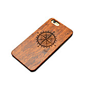 Funda Para iPhone 5 Funda iPhone 5 Diseños En Relieve Funda Trasera Caricatura Dura De madera para iPhone SE/5s iPhone 5