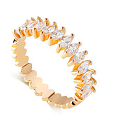 밴드 반지 모조 다이아몬드 합금 드롭 패션 실버 골든 보석류 결혼식 1PC