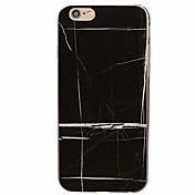Funda Para Apple Funda iPhone 5 iPhone 6 iPhone 7 Diseños Funda Trasera Mármol Suave TPU para iPhone 7 Plus iPhone 7 iPhone 6s Plus