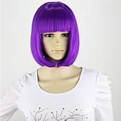 Syntetiske parykker Lilla Cosplay-parykk Syntetisk hår