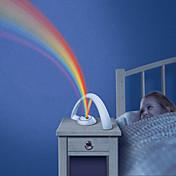 rgb luz del arco iris de la manera para las muchachas del niño llevó el proyector de proyección romántica lámparas lámpara de noche la luz