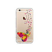Funda Para Apple iPhone 6 iPhone 6 Plus Transparente Diseños Funda Trasera Mariposa Suave TPU para iPhone 7 Plus iPhone 7 iPhone 6s Plus