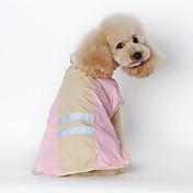 Gato Perro Impermeable Ropa para Perro A Prueba de Agua Un Color Azul Rosa Disfraz Para mascotas