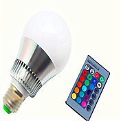 8w e14 gu10 e26 / e27 led 스마트 전구 g80 1 높은 전원 led 450-500lm rgb k dimmable 원격 제어 ac 85-265v