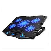 pantalla llevada de control inteligente de la almohadilla portátil de refrigeración regulable con 5 fans