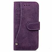 Etui Til Apple iPhone X iPhone 8 iPhone 8 Plus iPhone 7 Plus iPhone 7 Kortholder Lommebok Heldekkende etui Helfarge Hard PU Leather til