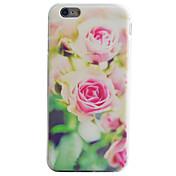Funda Para Apple iPhone 6 iPhone 7 Plus iPhone 7 Diseños Funda Trasera Flor Suave TPU para iPhone SE/5s